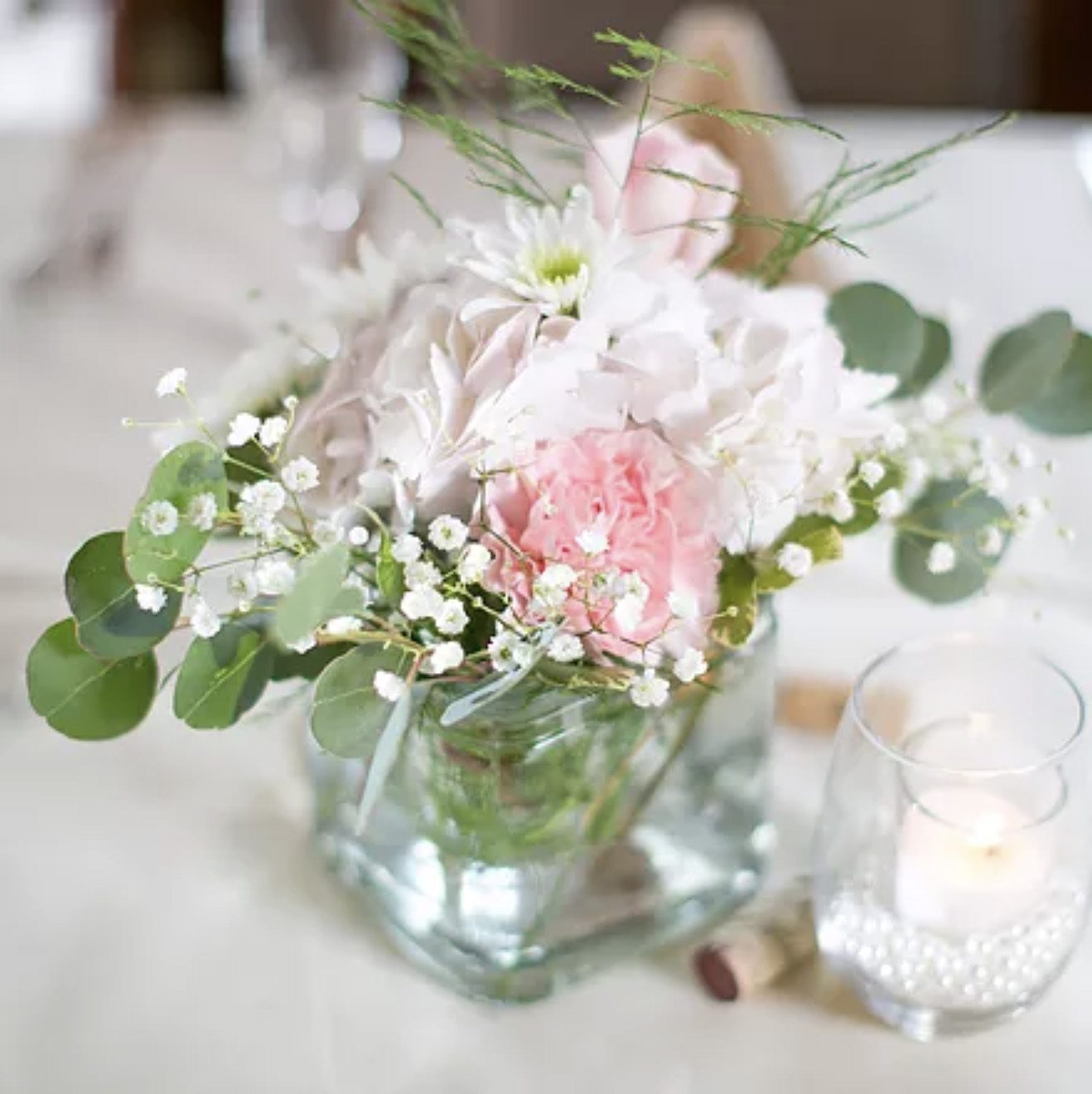 wedding flowers for reception table centerpiece